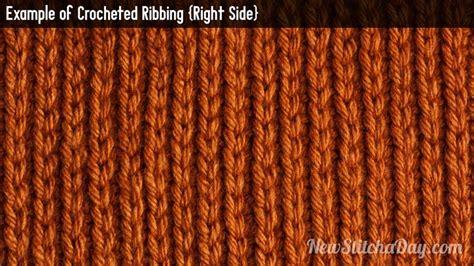 how to rib knit the crochet ribbing stitch crochet stitch 47