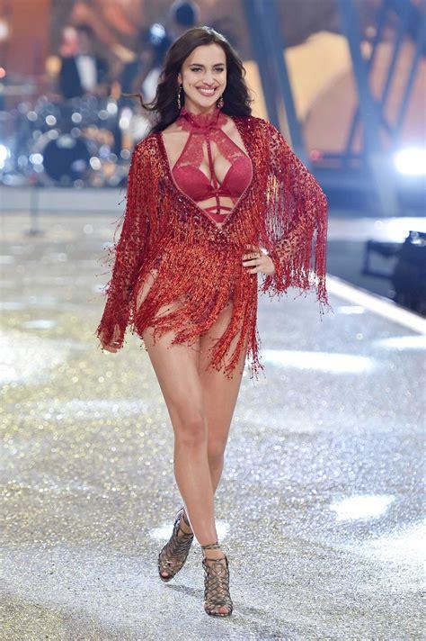 fashion show irina shayk at the 2016 s secret fashion show