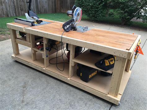 portable woodworking bench plans i built a mobile workbench imgur workbenches