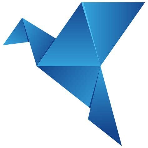 origami bird logo darmo grafika wektorowa logo origami ptak latać