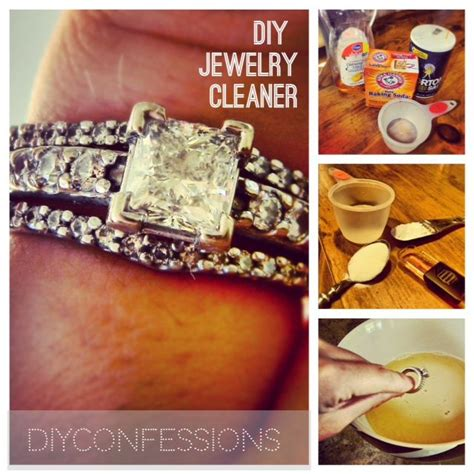 how to make jewelry cleaner for gold diy ring cleaner uses 4 household ingredients works well