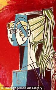 picasso paintings the with the ponytail with a picasso ponytail daily mail