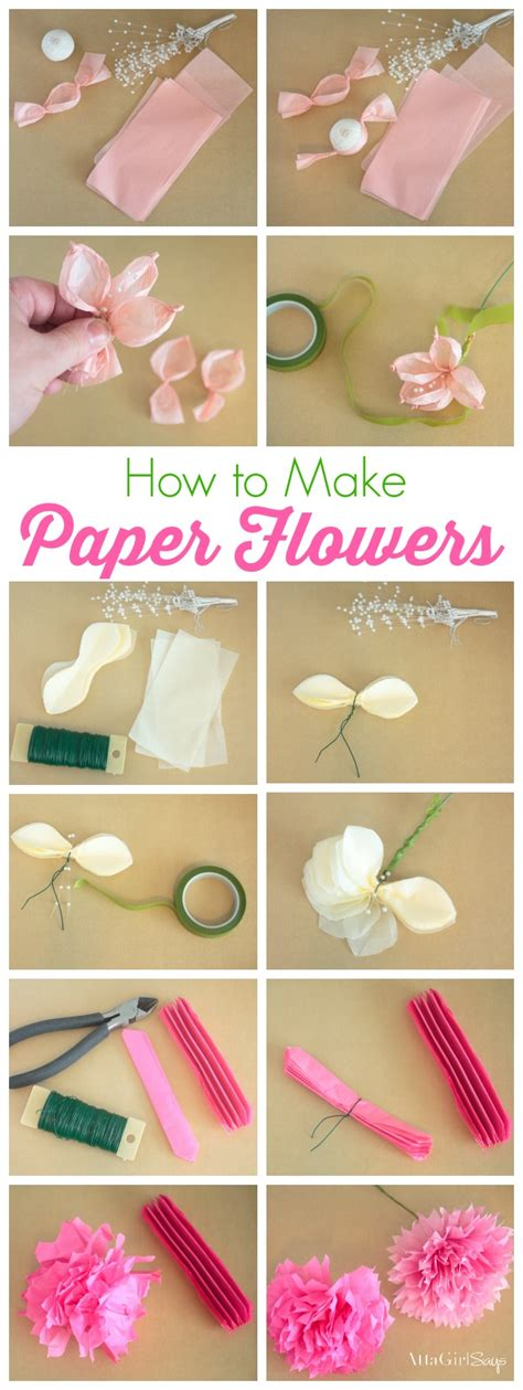 paper craft work tutorial how to make tissue paper flowers atta says