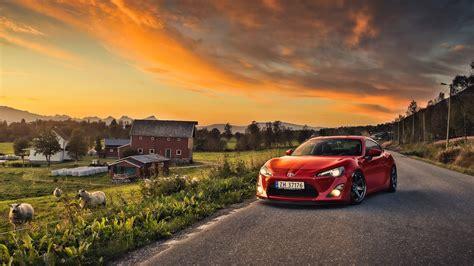 Car Sunset Wallpaper by トヨタgt86車 赤色 羊 家 壁紙 1920x1080 フルhd 壁紙ダウンロード Ja Best
