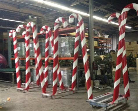 large canes decor canes in factory peppermint