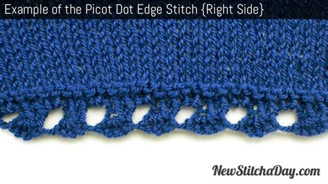 picot edge knitting the picot dot edging stitch knitting stitch 183 new