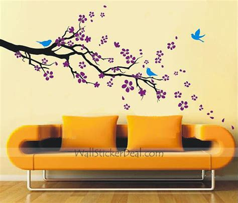 home stickers for walls plum blossom with birds wall sticker home decorating