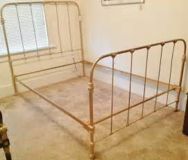 iron frame bed c 1920 antique cast iron gold painted bed frame