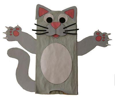 Paper Bag Cat Puppet