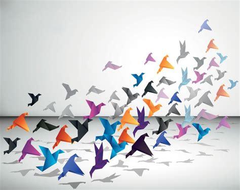 origami flying bird origami flying birds vector file 365psd