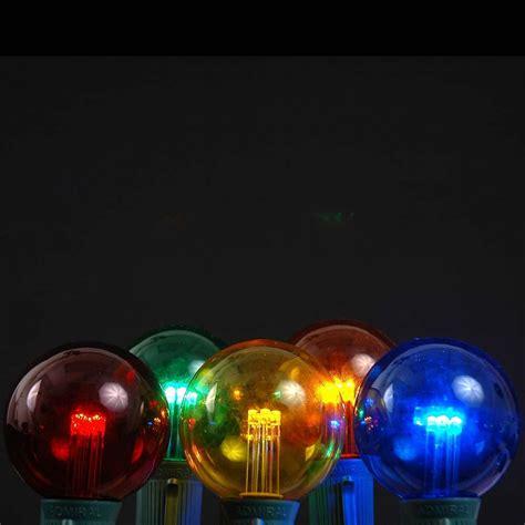 multi colored lights 5 pack multi colored led g50 globe bulbs novelty lights