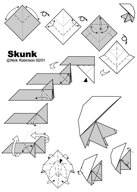origami weapons easy skunk by nick robinson