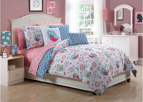 owl bedding set vibrant flowers and owls bed in a bag