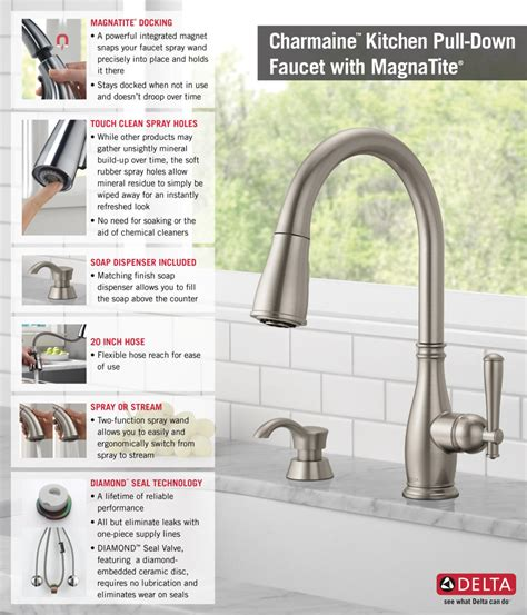 home depot kitchen faucets pull delta charmaine single handle pull sprayer kitchen