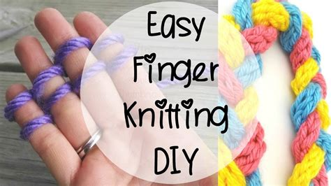 things to make with finger knitting how to finger knit episode 80