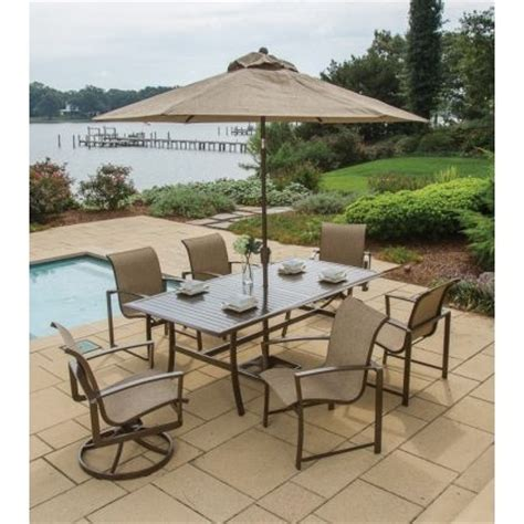 agio patio dining set agio quot quot collection 7 patio dining set