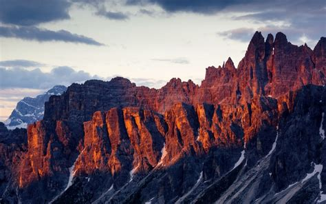 dolomites mountain range italy hd wallpapers