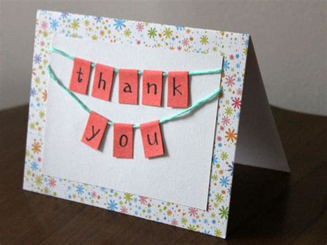 easy to make thank you cards handmade thank you card diy how to tutorial loulou downtown