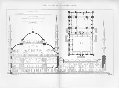Northwest Floor Plans structure and form of the mosque blue mosque