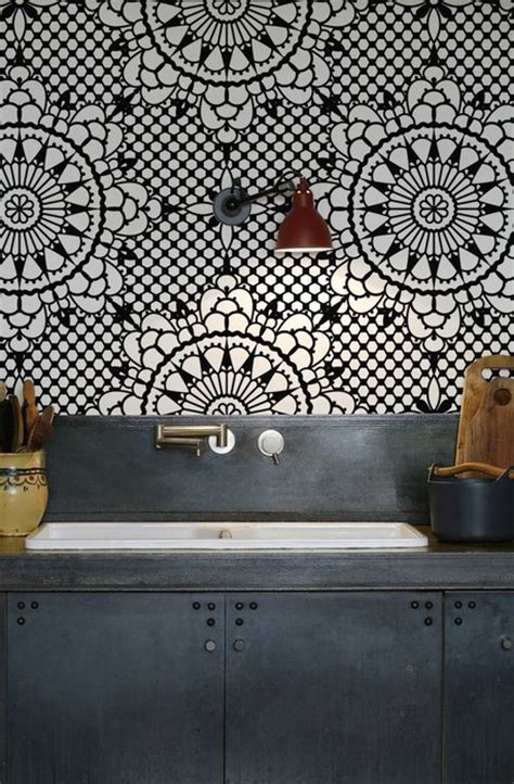 wallpaper for backsplash in kitchen 24 kitchens that stimulate the appetite messagenote