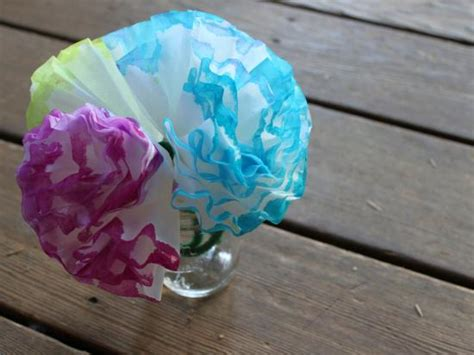 coffee filter crafts for coffee filter hydrangeas crafts activities for