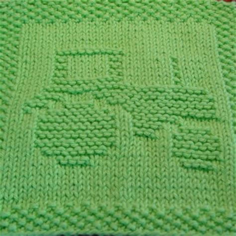 free tractor knitting pattern tractor knit dishcloth pattern designs by emily