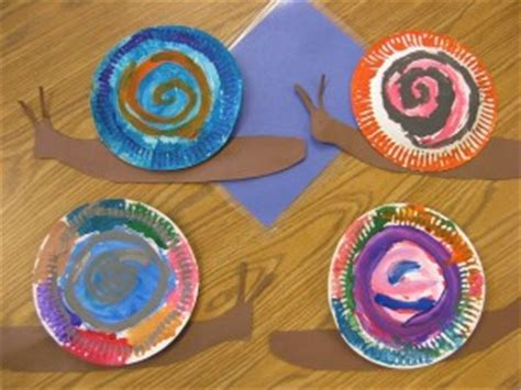 snail paper plate craft snail craft for crafts and worksheets for preschool