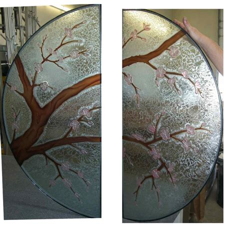 Painting A Vanity Top by Decorative Glass Doors Windows Table Cherry Blossom