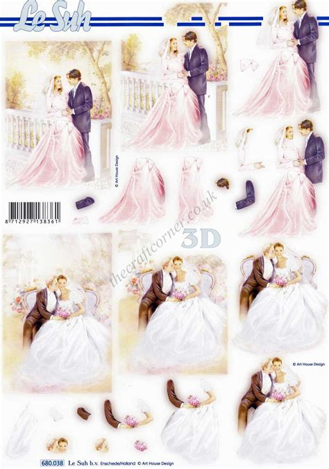 wedding decoupage sheets wedding die cut 3d decoupage sheet from le suh