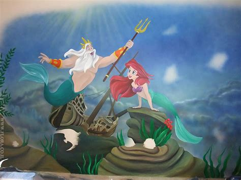 Disney Fairies Wall Mural flora murals kids rooms wall painting in process