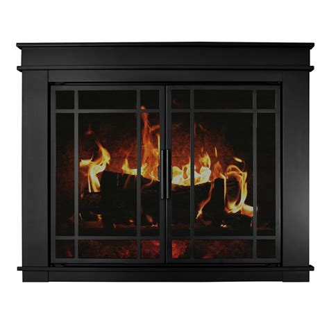 glass fireplace doors with blower pleasant hearth fillmore medium glass fireplace doors fl