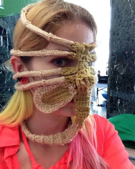 how to knit a mask xenomorph hugger ski mask bored panda