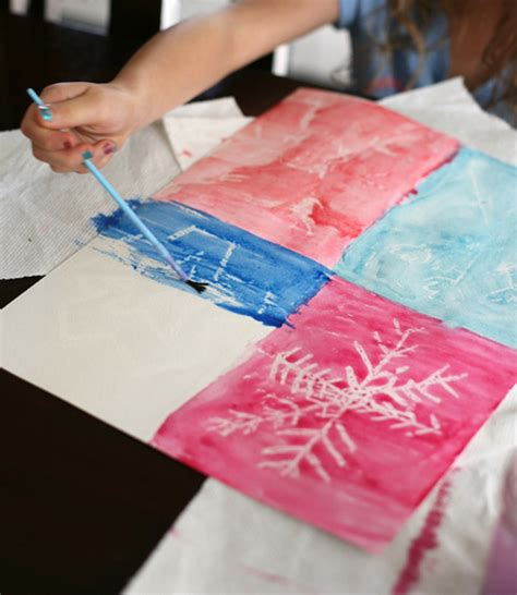 craft activity for winter snowflake craft