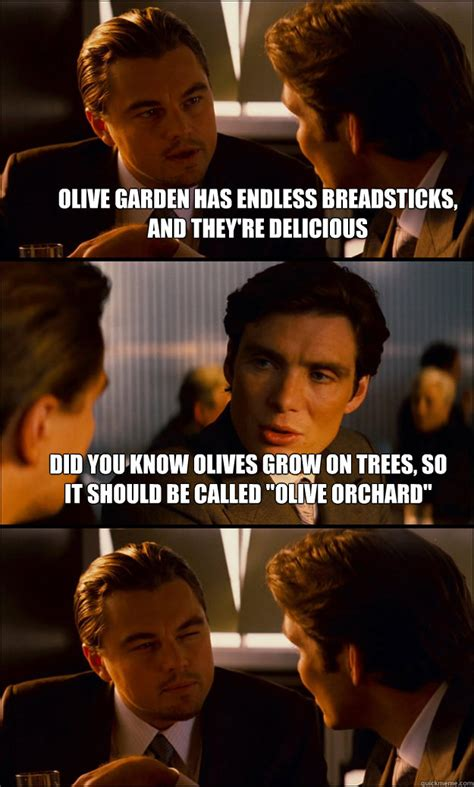 olive garden has endless breadsticks and they re delicious did you olives grow on trees