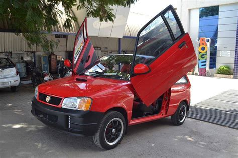 Car Modification Websites by Modified Maruti 800 With Scissor Doors Shifting Gears