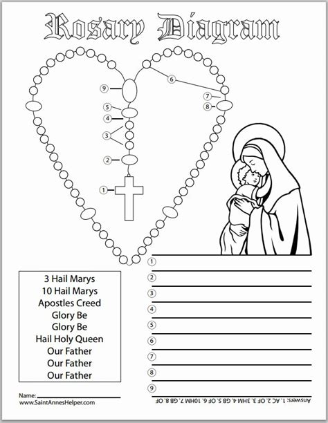 rosary children rosary coloring page for coloring home