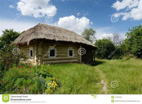 Traditional Country House Plans traditional ukrainian rural house with hay roof pirogovo