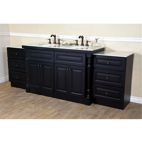 bellaterra home 605522c double sink bathroom vanity dark