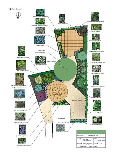 l shaped garden design ideas small circular lawn as a pivot point in an l shaped