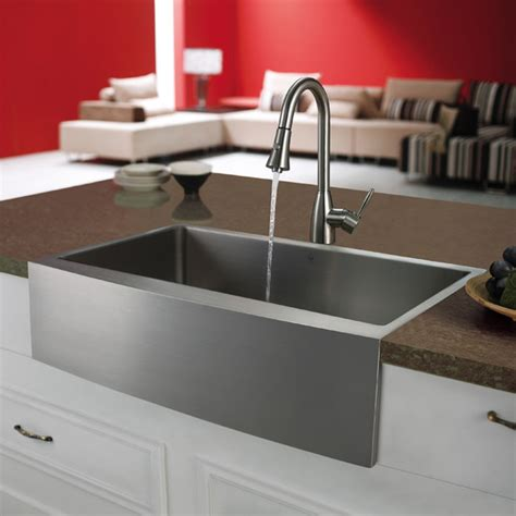 stainless farmhouse kitchen sinks vigo premium series farmhouse stainless steel kitchen sink