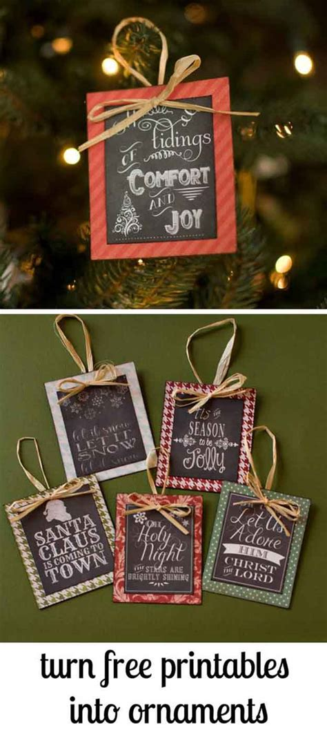 diy chalkboard ornaments 27 spectacularly easy diy ornaments for your