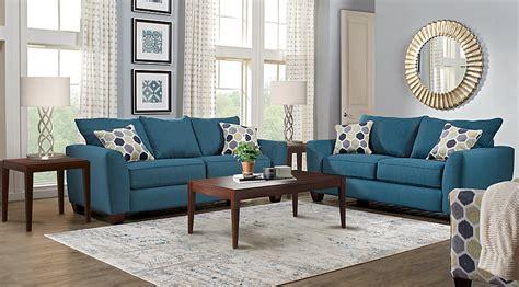 living room 3 sets bonita springs blue 5 pc living room living room sets blue