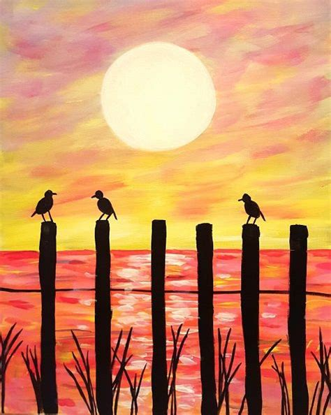 paint nite valencia best 25 sunset paintings ideas on sunset