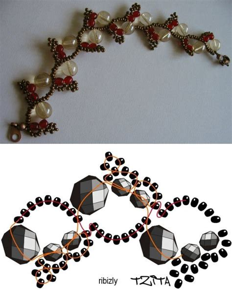beading lessons free tutorial for this pretty bracelet or necklace http