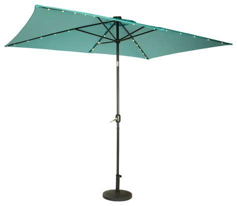 solar lighted umbrella patio rectangular solar powered led lighted patio umbrella 10