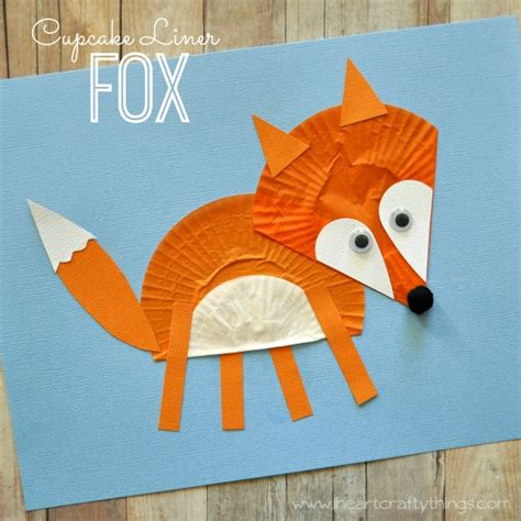 fox crafts for cupcake liner fox craft i crafty things