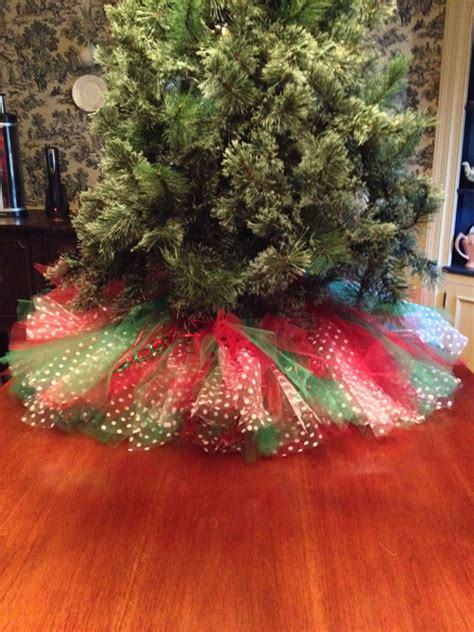 tree with skirt and green tree skirt tulle by