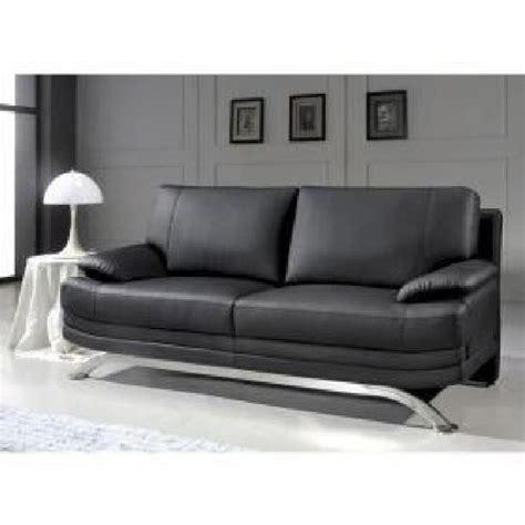 canap 201 cuir noir 3 places romeo achat vente canap 233 sofa divan cuir bois polyur 233 thane