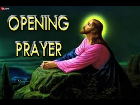 prayer for opening opening prayer