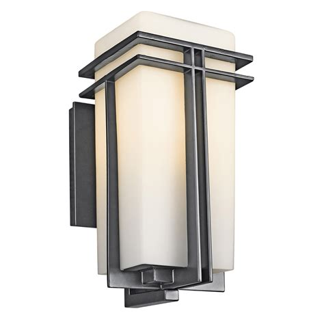 exterior wall lighting fixtures kichler 49201bk tremillo outdoor wall fixture